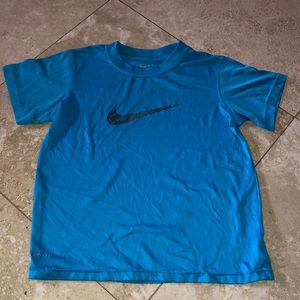 Blue nike dry fit shirt